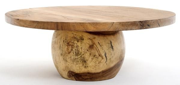 Modern Wood Coffee Tables, Round Slab, Organic Furniture | Modern .