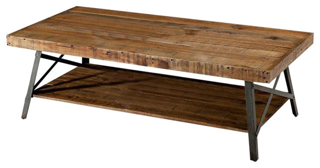 Industrial Chic Modern Classic Reclaimed Wood and Metal Coffee .