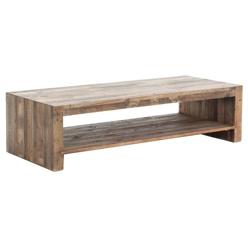 Angora Rustic Modern Reclaimed Wood Coffee Table 60"