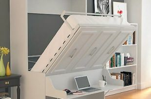 "URBAN LOFT ""ALEGRA"" Full Wall Bed/ Murphy Bed - Easy Install White ."