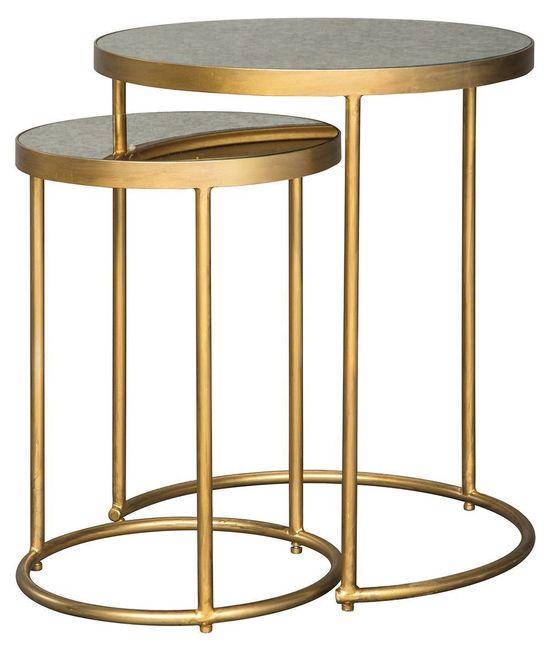 Majaci Gold Nesting Tables | The Furniture Ma