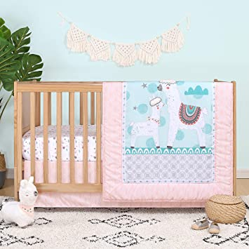 Amazon.com : The Peanutshell Llama Love Crib Bedding Set for Baby .