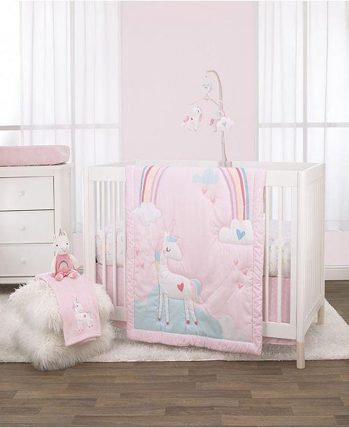 NoJo Rainbow Unicorn 3-Piece Crib Bedding Set & Reviews - Bedding .