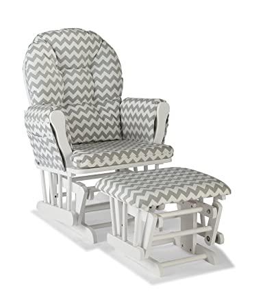Amazon.com: Premium Nursery Glider and Ottoman Chair Rocker .