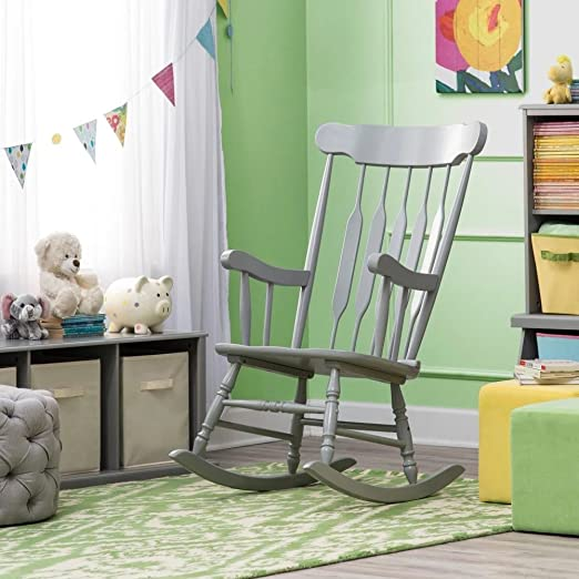 Amazon.com: Rocking Chair for Baby Nursery - Grey: Kitchen & Dini