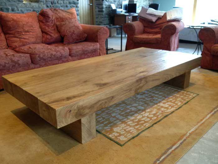 Solid Oak Furniture | Wood coffee table rustic, Oak coffee table .
