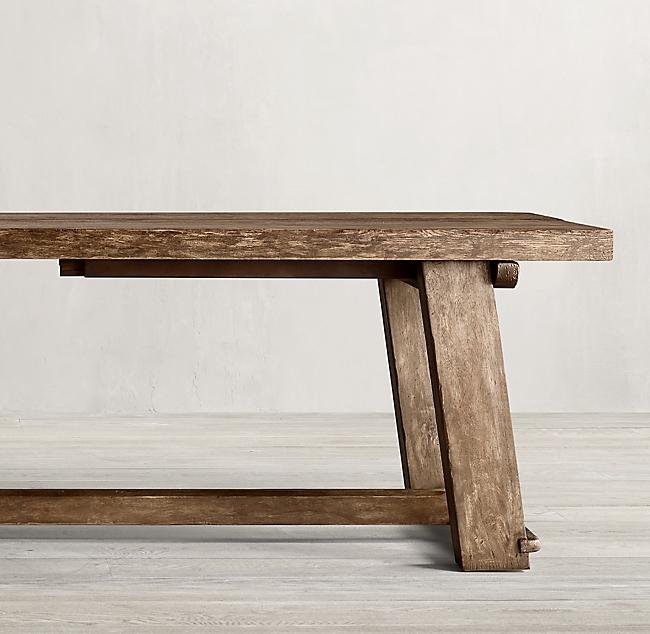 Italian Blacksmith Oak Rectangular Extension Dining Tab