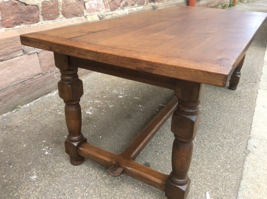 Mid-Century French Oak Dining Table, 1950s for sale at Pamo