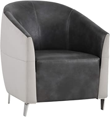 Amazon.com: Sunpan 5West Occasional Chairs, Dove: Kitchen & Dini