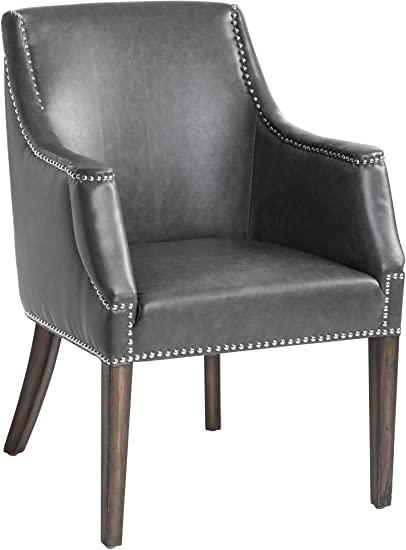 "Amazon.com: Sunpan 5West Occasional Chairs, 26.5"" x 25.5"", Grey ."