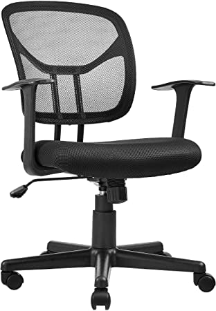 Amazon.com: AmazonBasics Mesh, Mid-Back, Adjustable, Swivel Office .