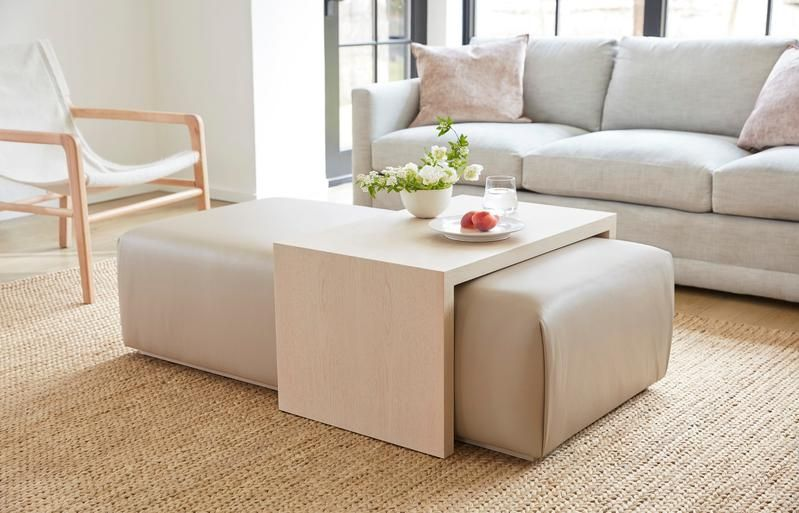 The Bowery Coffee Table Ottoman in 2020 | Ottoman table, Leather .