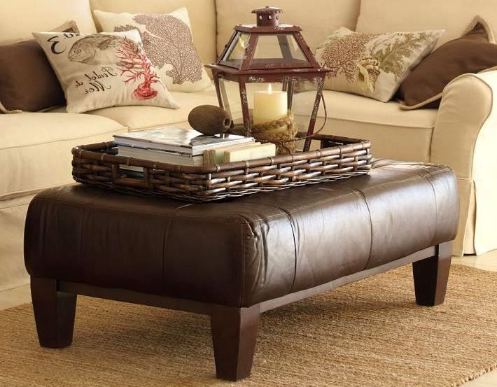 Leather Ottoman Coffee Table with Tray | Leather ottoman coffee .