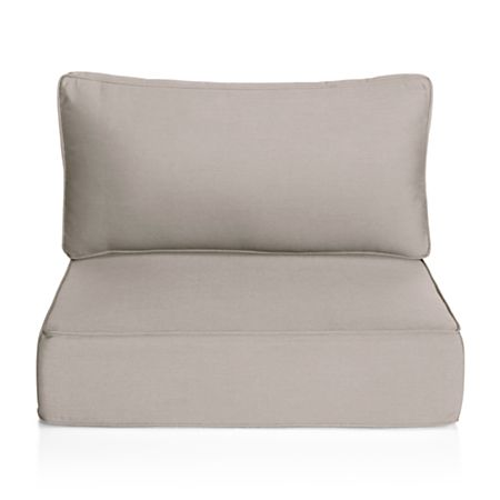 Ventura Grey Outdoor Chair Cushion + Reviews | Crate and Barr