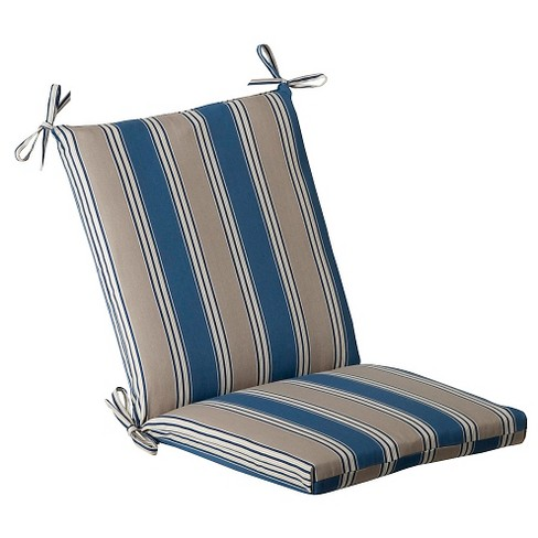 Outdoor Chair Cushion - Blue/Beige Stripe : Targ