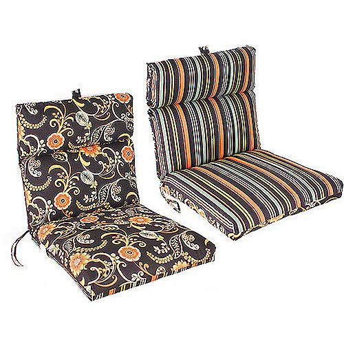Jordan Manufacturing Reversible Outdoor French Edge Chair Cushion .