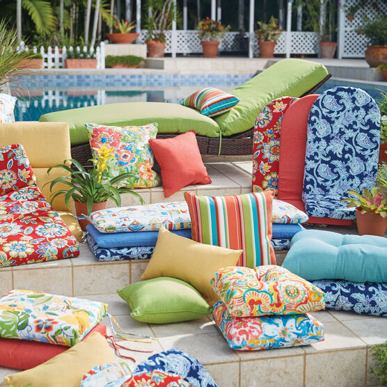 Set of 4 Stacking Chair Pads| Outdoor Cushions & Pillows | Brylane .