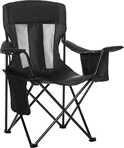 Amazon.com : AmazonBasics Mesh Folding Outdoor Camping Chair With .
