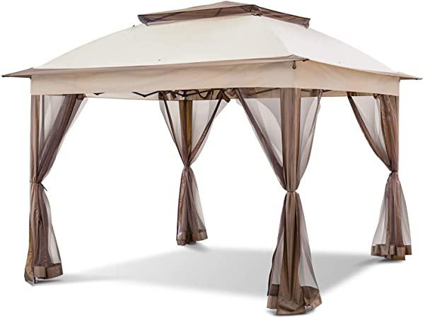 Amazon.com : COOL Spot 11'x11' Pop-Up Gazebo Tent Instant with .