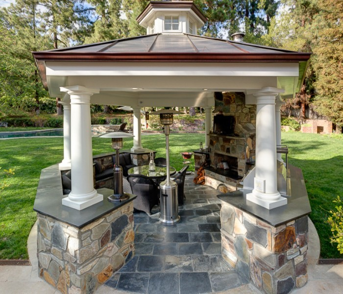 Have You Ever Cooked Out in Outdoor Gazebo Kitchen ? | Pergola .