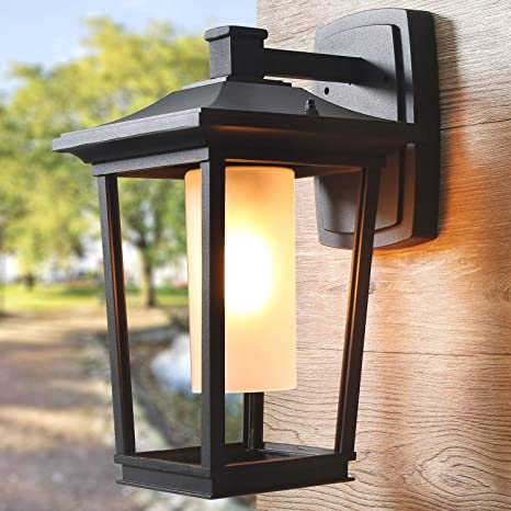 Log Barn Large Outdoor Wall Light Farmhouse Sconce with Frosted .