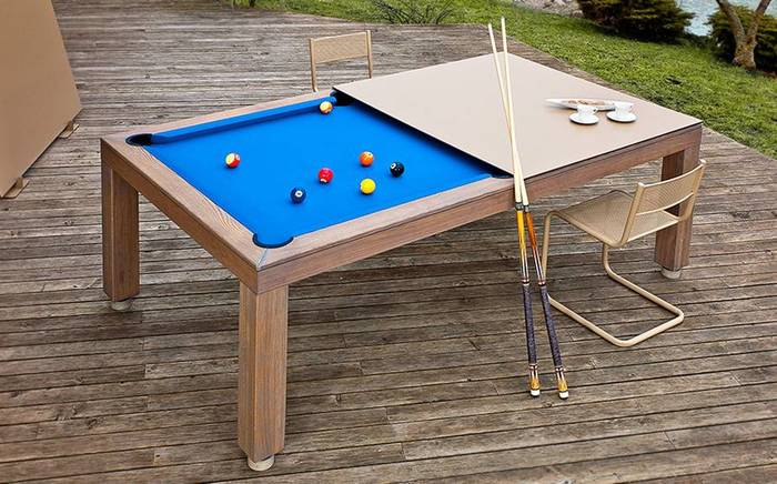 Vision Outdoor Pool Table w/Dining Top Option - Sawyer Twa