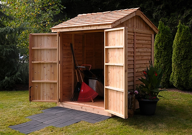 Wooden Sheds | 6x6 Shed | Maximizer Storage Shed - Outdoor Living .