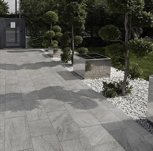 Outdoor tile / for floors / porcelain stoneware / matte STONETRACK .