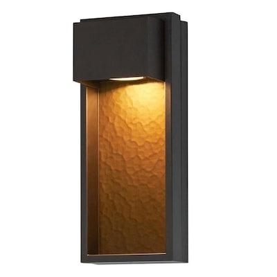 Portfolio 15.9-in H Bronze Dark Sky LED Outdoor Wall Light ENERGY .