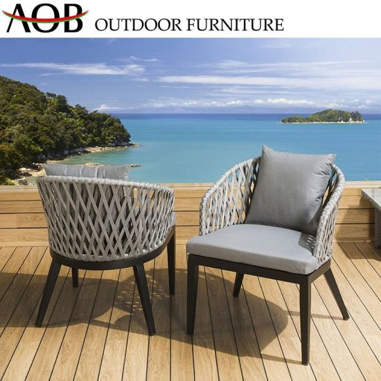 Chinese Outdoor Garden Hotel Furniture Rope Woven Leisure Balcony .