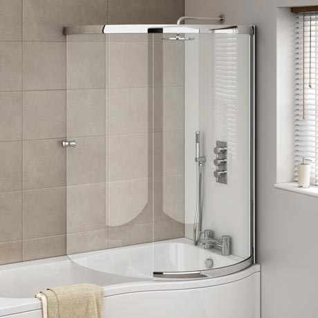 Cruze P-Shaped Sliding Bath Screen | Available At Victorian Plumbi