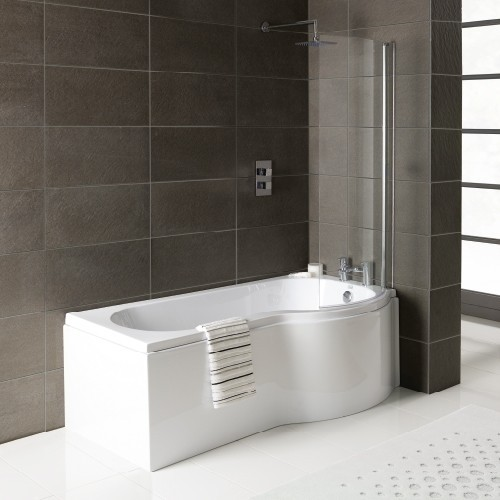 1600MM P-Shaped Bath (Right Hand) - Bathshop3