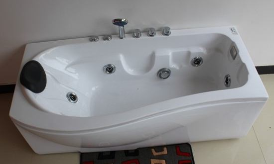 P Shaped Bath | P Shaped Whirlpool Bath 1500-1600-1700