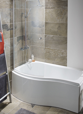 ELGIN 1500MM P SHAPERD BATH, SHOWER SCREEN AND PANELS | Highlife .