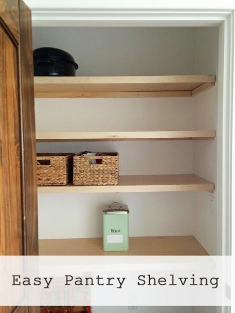 Easiest Pantry or Closet Shelving | Ana Whi
