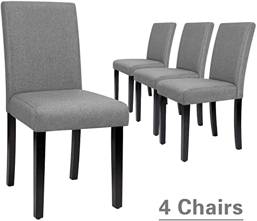 Amazon.com - Furmax Dining Chairs Urban Style Fabric Parson Chairs .