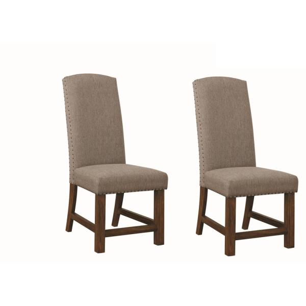 Coaster Home Furnishings Atwater Parson Chairs with Nailhead Trim .