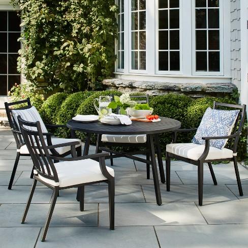 Fairmont 5pc Patio Dining Set - Black - Threshold™ : Targ
