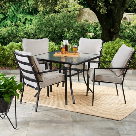 Mainstays Richmond Hills 5-Piece Outdoor Patio Dining Set with .