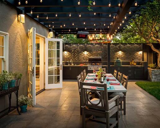 30 Outdoor Patio LED & Bistro String Lights Ideas | Sebring Design .