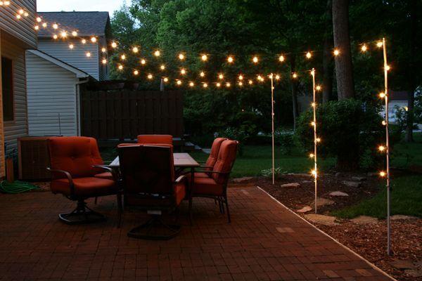 Types of patio lights | Backyard patio, Diy patio, Backya
