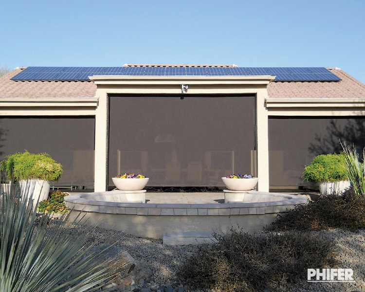 Patio Shades | Exterior Motorized Shades | Patio Products Phoen
