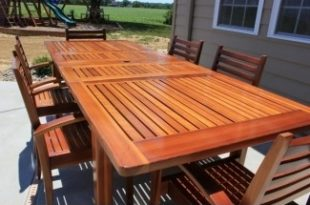 Cedar Patio Tables - Ideas on Fot