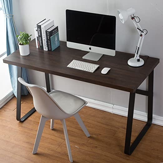 Amazon.com: DYH Vintage Computer Desk, Wood and Metal Writing Desk .
