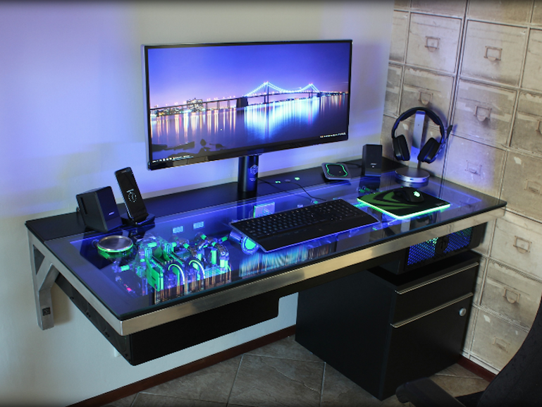 Who needs a PC Case when you have a PC Desk? : gaming