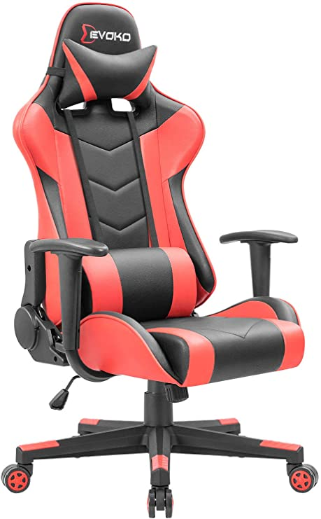 Amazon.com: Devoko Ergonomic Gaming Chair Racing Style Adjustable .