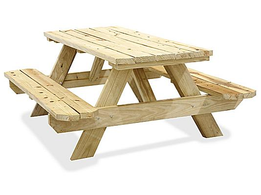 Wood Picnic Tables, Wooden Picnic Tables in Stock - ULI