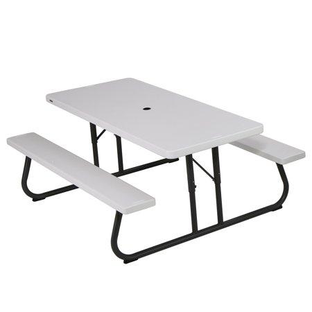 Lifetime 6 Foot Folding Picnic Table, White Granite, 80215 .