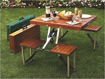 Amazon.com : Tailgate Folding Wooden Picnic Table : Portable .