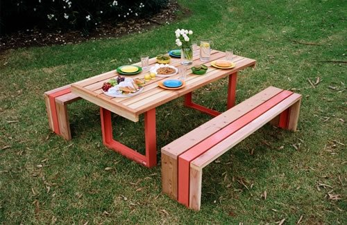 Modern Picnic Table - Landscaping Netwo